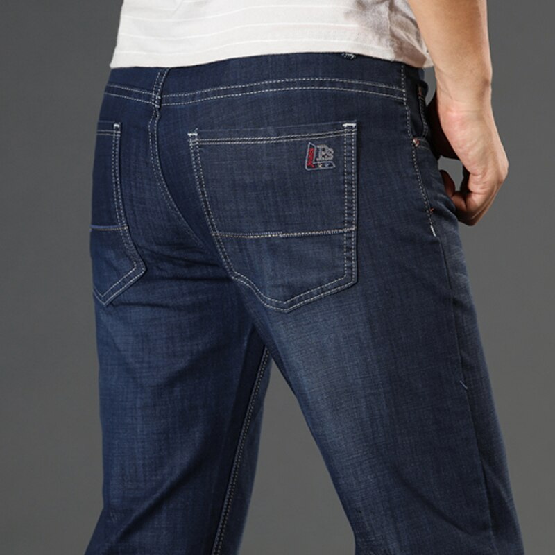 Мужские байкерские джинсы Spijkerbroeken Heren Peto Vaquero Hombre, Классические облегающие мешковатые джинсы с карманами по бокам