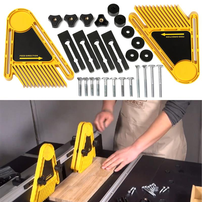 Multi-purpose conjunto de ferramentas duplo featherboards mesa serras mesas roteador cercas serra circular elétrica diy para ferramentas de madeira