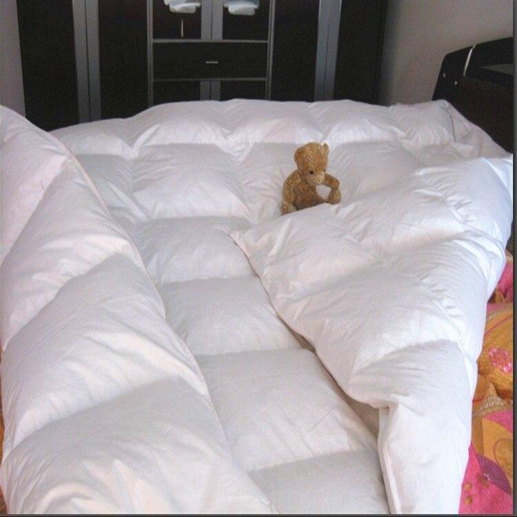 لحاف من ريش الإوز للفنادق ، لحاف أبيض للفنادق 220 × 240 سنتيمتر ، حشو 1 كجم ، بالجملة