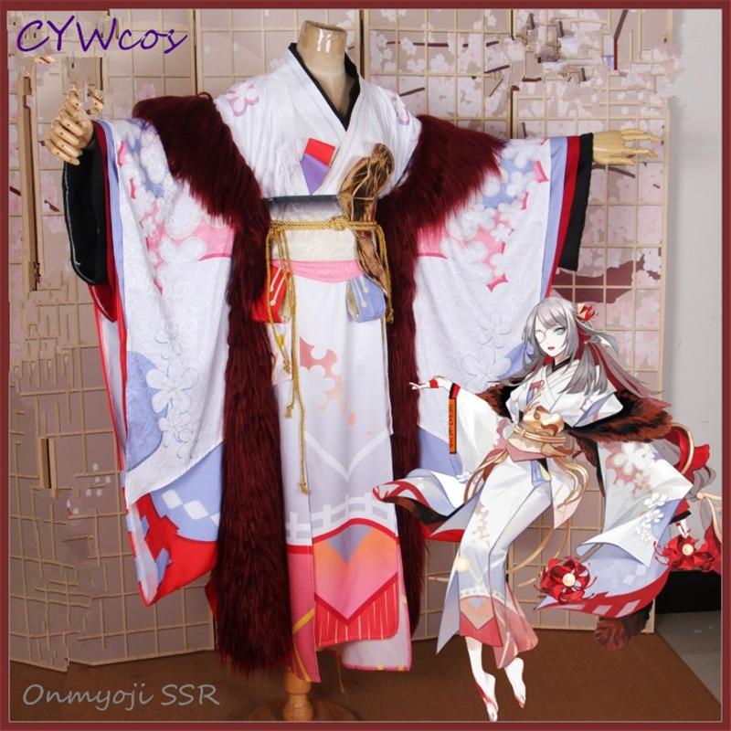 Onmyoji SSR Bianhua Red Flower Cosplay Costume New Skin Halloween Costumes Game Cosplay Uniforms Kimono Suits