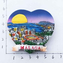Spain Sun Coast Marbella Malaga Travel Souvenir Fridge Magnets 3D Resin High Quality Refrigerator Magnetic Sticker Home Decor