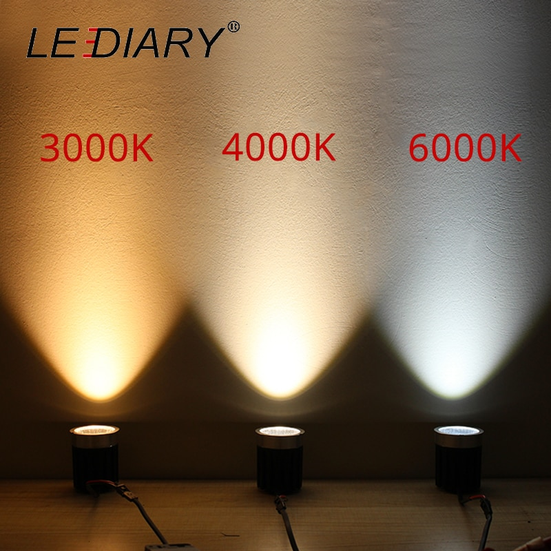 LEDIARY LED COB Downlights White Ceiling Recessed Spot Lamp 90mm Cut Hole 85-265V 5W/10W/15W 3000K/4000K/6000K Lighting Fixtures  - buy with discount