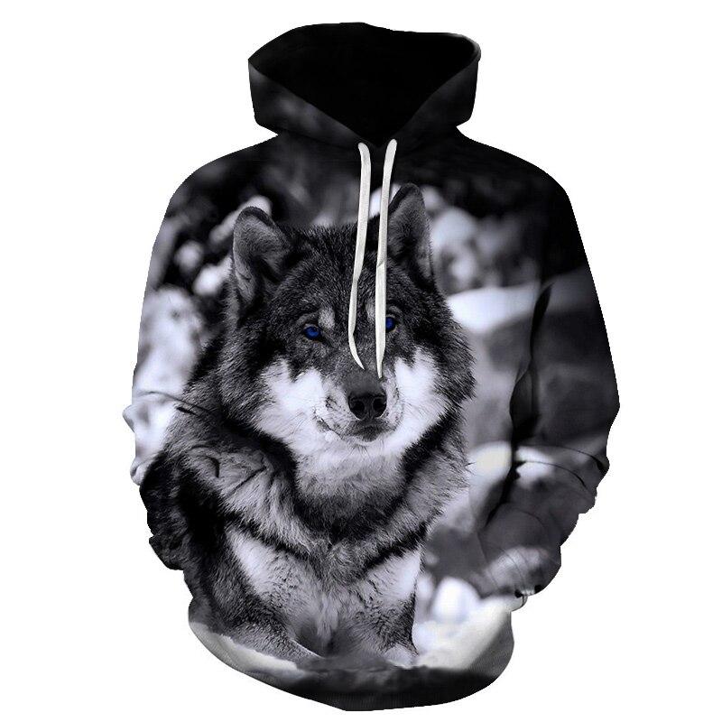 Горячая Распродажа толстовки с капюшоном с принтом волка мужские 3d толстовки брендовые толстовки куртки для мальчиков качественный пулове...