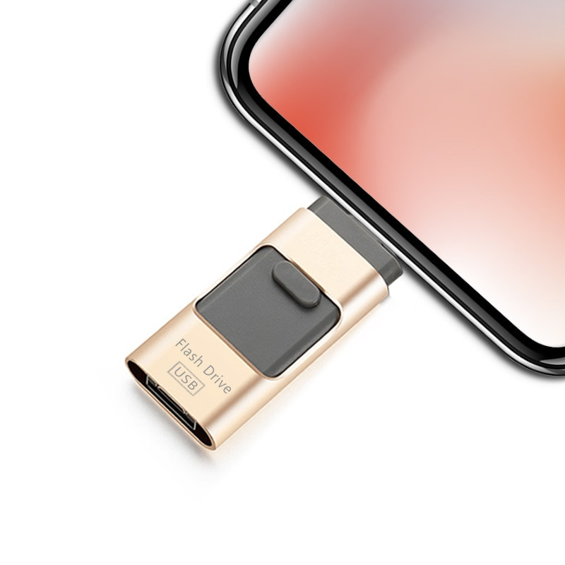 Novelty USB Flash Drive 64GB 16GB 32GB For iPhone X 5 6 7 8 For Micro USB Flash For Android Huawei Phone Memory U Stick