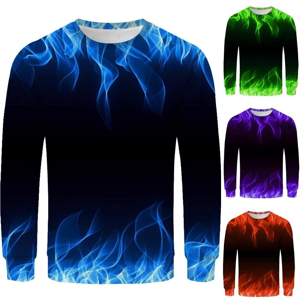 Nueva camisa de manga larga con estampado 3D Blusa con capucha M-3XL sudadera con capucha ropa de calle ropa hombre Dropshipping