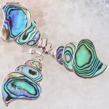 Livraison gratuite collier en forme de coquille naturelle perle Ammonite fossiles coquillage escargot océan Reliquiae conque Animal pendentif 1 pièces K115