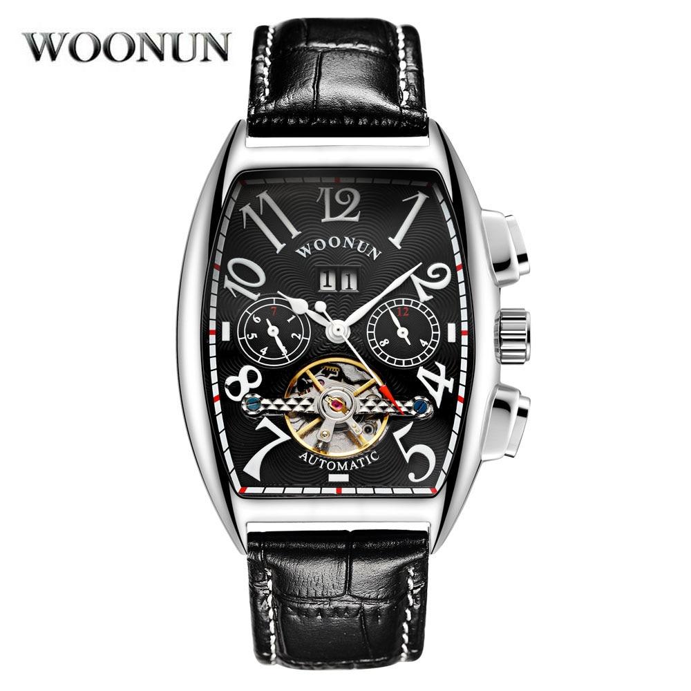 2020 New Tourbillon Watch Men Watches Top Brand Luxury Fashion Tonneau Automatic Mechanical Watch mo