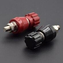 Poste en cuivre rouge noir 5MM   2 pièces/1 paire, bornes dalimentation, Machine à souder, onduleur connecteur de poste JS107