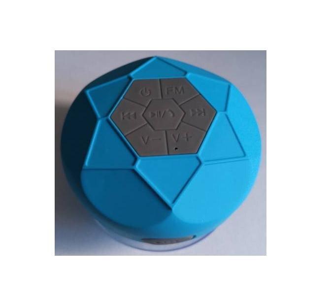 Altavoz Bluetooth de ducha portátil, IPX7 impermeable con Radio FM, 600 mAh, azul, Subwoofer, Compatible con todas las celdas