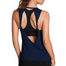 T-shirt de Sport sans manches pour femme, haut court pour Yoga et Fitness, maillot de Sport, vêtement de course, haut court pour femmes