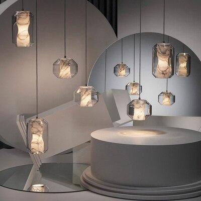 Lámpara colgante de globo de acrílico para restaurante