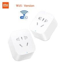 Original Xiaomi MiJia Mi prise de courant intelligente prise de base sans fil WiFi APP télécommande minuterie commutateur Powercube WiFi version