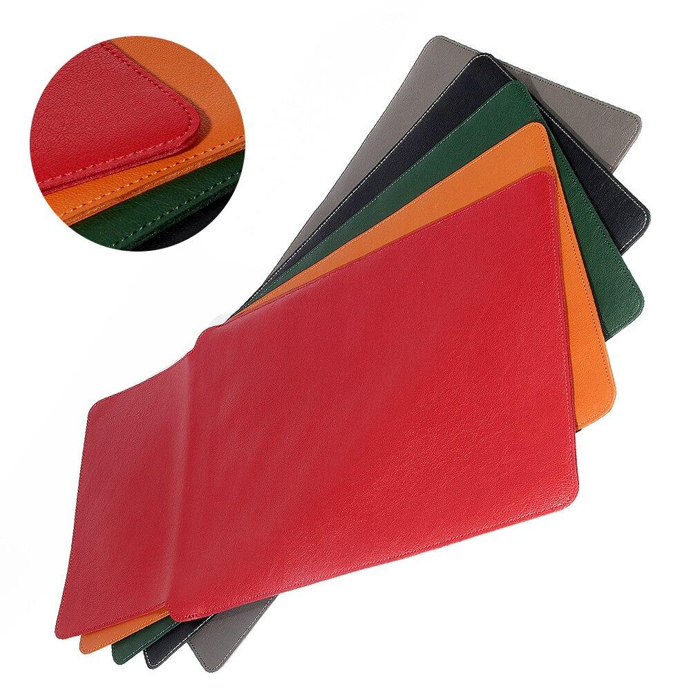 Купить с кэшбэком PU Leather Sleeve Bag Case For Macbook Air Pro Retina 11 12 13 15 Laptop Cover For Macbook air 13.3 inch for Huawei magicbook