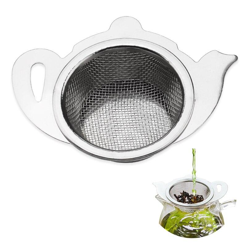 Colador de té de acero inoxidable 2 en 1 con mango de malla infusor contenedor titular para tetera tazas té suelto herramientas de elaboración