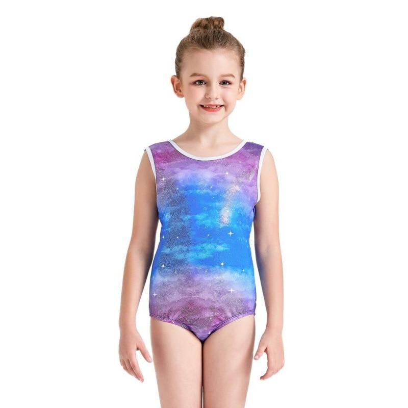 Alta qualidade da estrela-forma do corpo terno de ginástica balé roupas de prática de dança