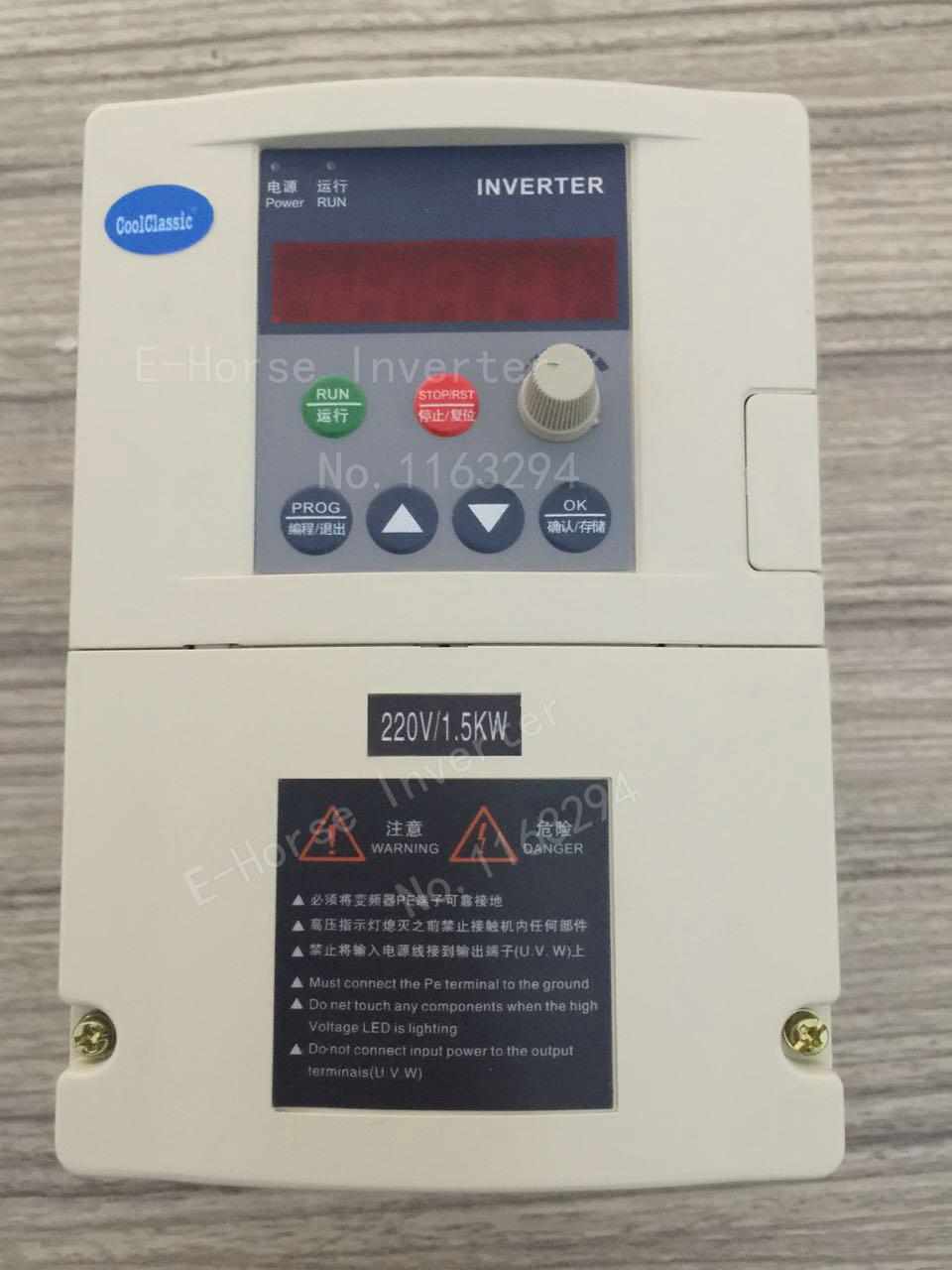 Inversor VFD ZW-S2-2T 1. 5KW/2,2 kW entrada monofásica de 110 V/220 V y para motor trifásico con Cable de 2M y Panel exterior