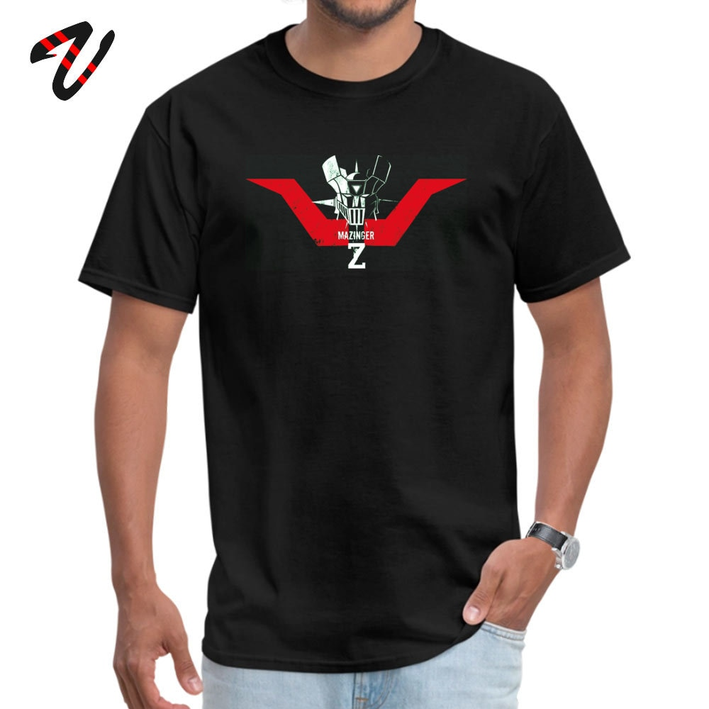 Camiseta para hombre con estampado de Mazinger Z Head, las últimas camisetas para hombre, camiseta de manga corta con cuello redondo, Camiseta de algodón 100%, camiseta única, triangulación de envíos