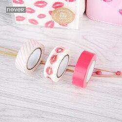 Никогда не милый девчачий набор декоративного скотча Васи розовый канцелярский подарочный набор 3 рулона/набор Маскировочная лента 2019 запи...