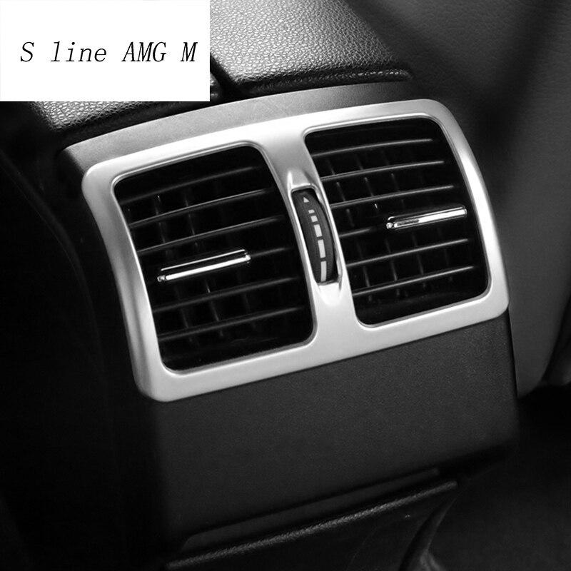 Автомобильный Стайлинг вентилятор заднего кондиционера декоративная рамка воздушный выход отделка полосы наклейки для Mercedes Benz C Class W204 2009-2014