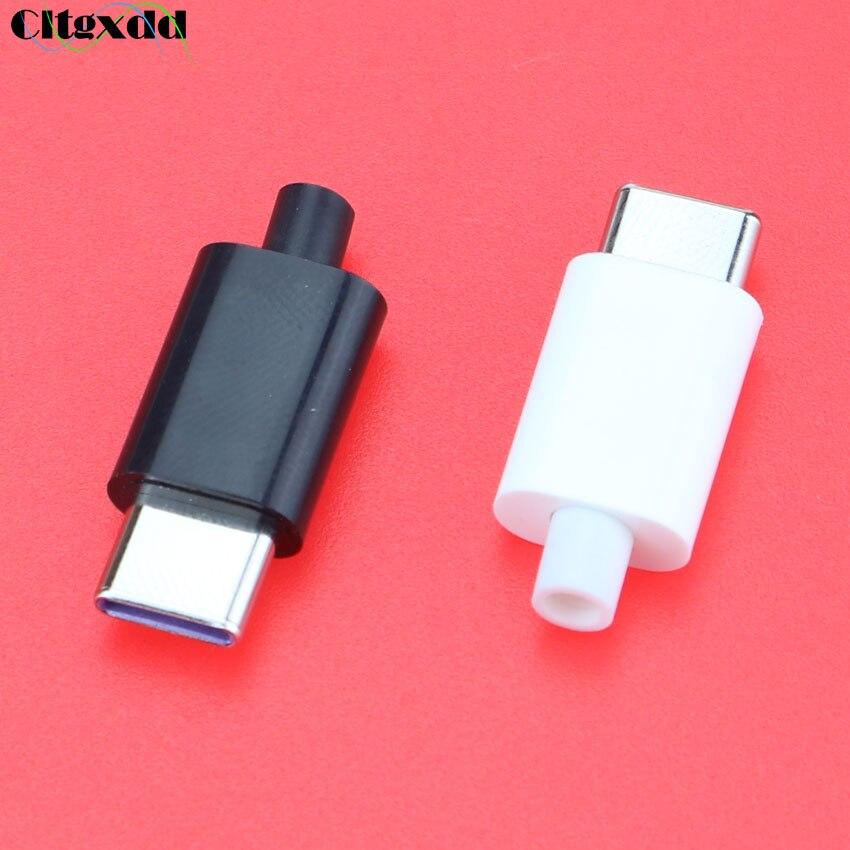 CLTGXDD 1 шт. 5A DIY USB 3,1 type-C штекер тип сварки разъем типа C данных и зарядки сварной провод разъем