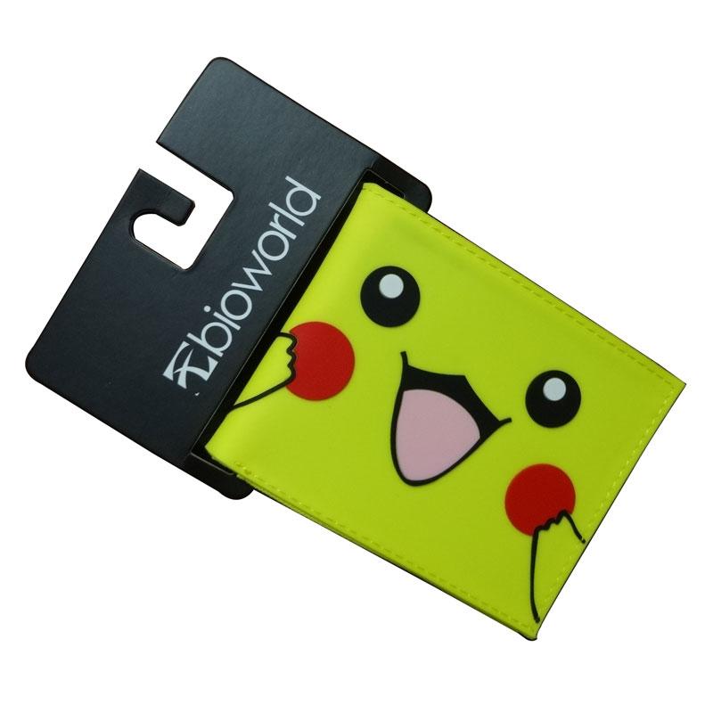 Preciosa Cartera de Pikachu Kawaii de dibujos animados, de bolsillo, de Pokemon Go, bolsos porta tarjetas, regalo para niños, de PVC, cartera corta