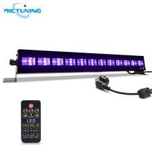 MICTUNING-lampe à lumière UV noire 36W   Scène scintillante Dimmable, lampe pour peinture du corps UV, décoration daffiches de vacances Disco de fête