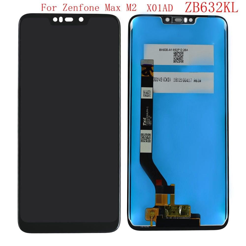 Para Asus Zenfone Max M2 ZB632KL X01AD pantalla Lcd con digitalizador de cristal táctil ensamblaje de piezas de teléfono móvil