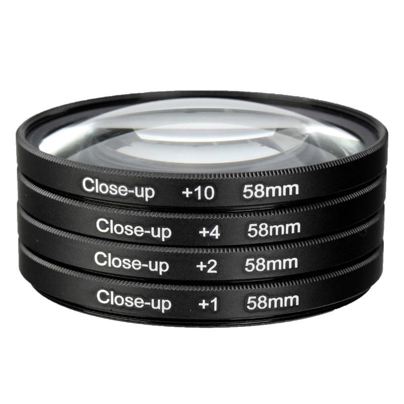 Kit + 1 10 para Canon Câmera Macro Close-up Filtro Lente 2 4 Eos 1200d 1100d 700d 650d 600d 550d 500d100d Rebel T5i T4i Len 58mm