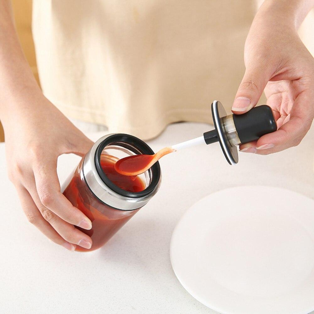 Nueva botella de condimento de vidrio de cocina caja de almacenamiento de sal tarro de especias con cuchara suministros de cocina para azúcar sal pimienta en polvo
