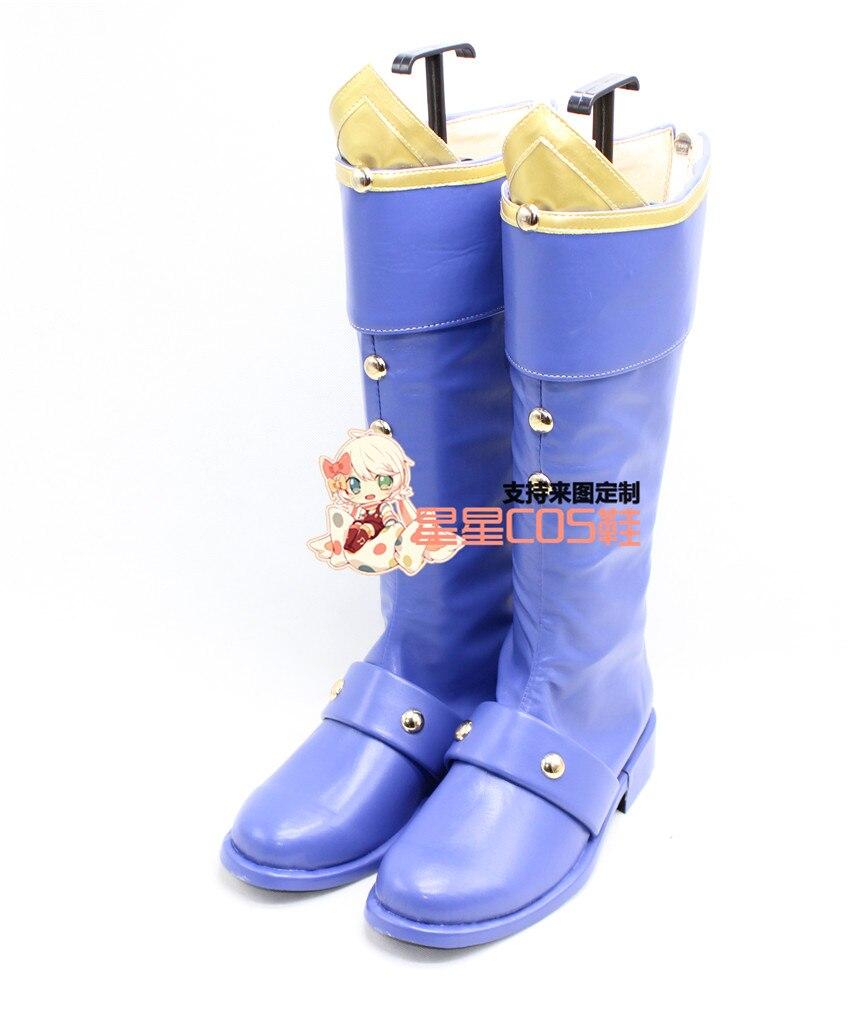 LOL EZ Ezreal azul largo Halloween Cosplay zapatos botas X002