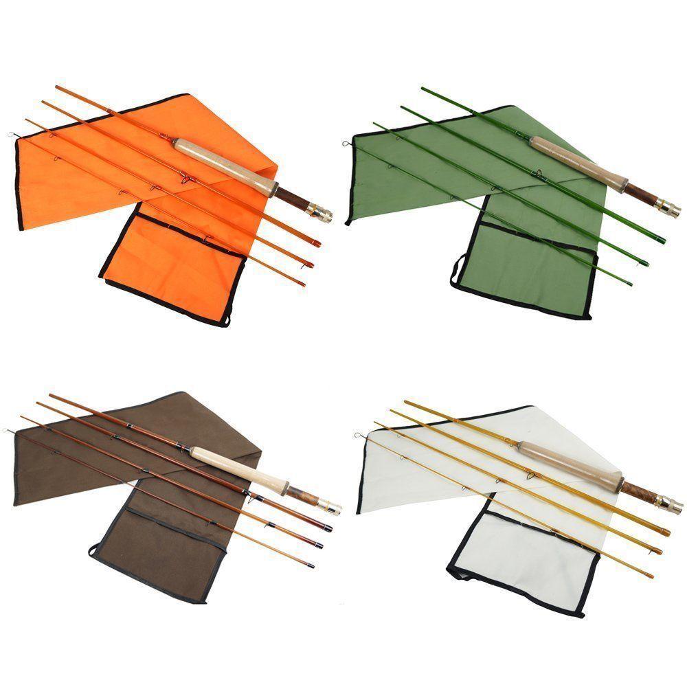 Aventik 4 colores fibra de vidrio mosca Rod de acción media Super fibra ligera vidrio transparente colores mosca caña de pescar 4 Sección