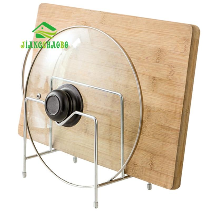 JiangChaoBo Stainless Steel Lid Rack Kitchen Chopping Board Put The Lid Shelf Cutting Board Chopping Board Storage Racks