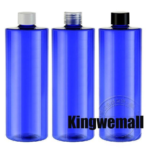 300 pcs/lot capacité 500 ml en plastique PET eau cobalt bleu bouteille cosmétique conteneur avec bouchon Cola