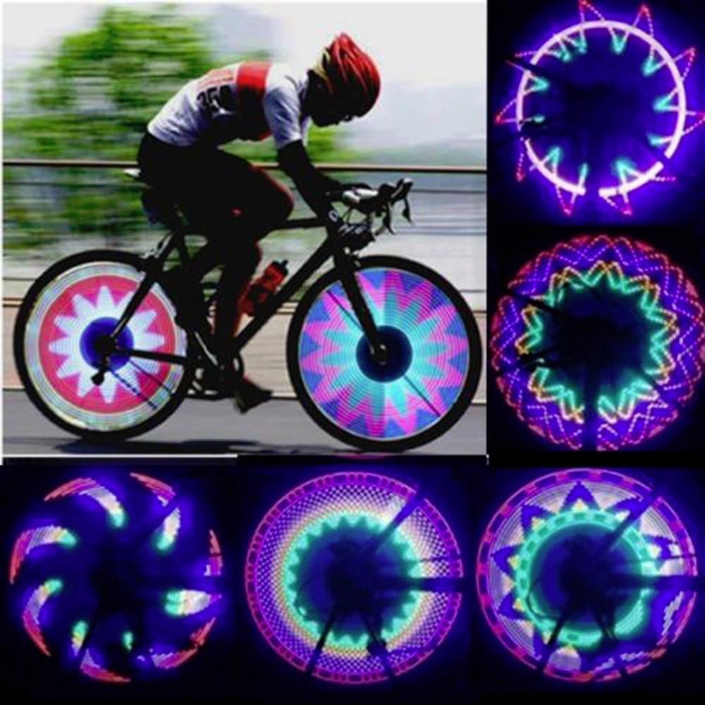 1 Uds 32 luces LED de señal de rueda coloridas bicicletas de montar arcoíris bicicletas de ciclismo fijas en radios de bicicleta luz de Flash de neumáticos