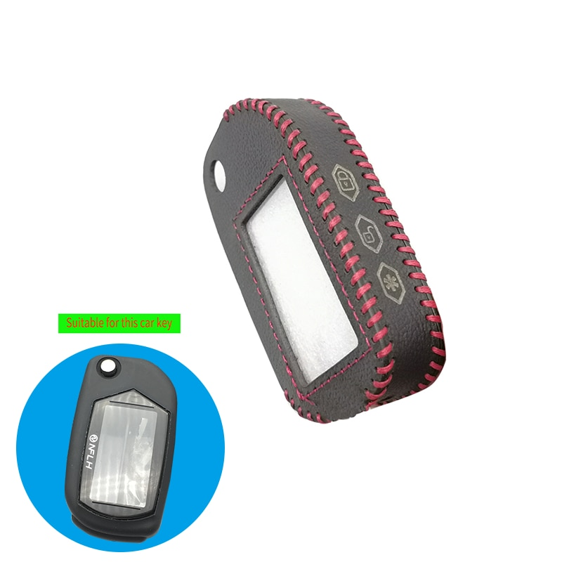 Mode Mann Leder Schlüssel Fall für Starline Russische Auto Alarm A91 A61 B9 B91 A91 Folding Auto Flip Fob LCD remote Shell Abdeckung