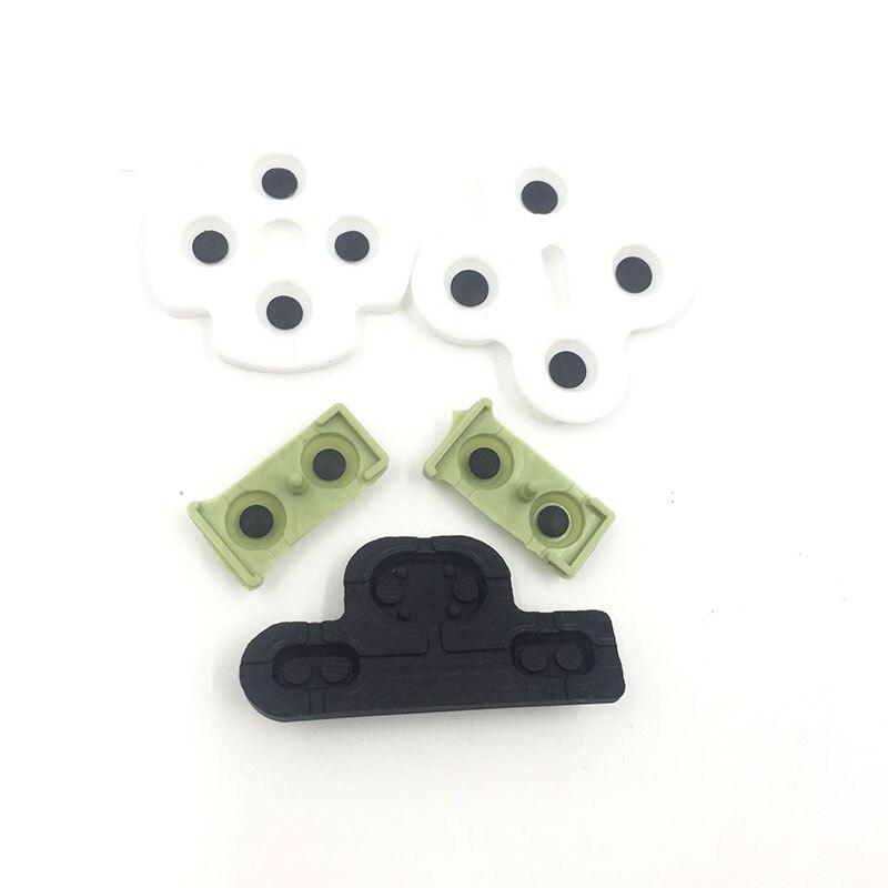 Almohadillas de goma de silicona conductiva de repuesto para mando PS3 L2R2 L1R1 ABXY D Pad Rubber
