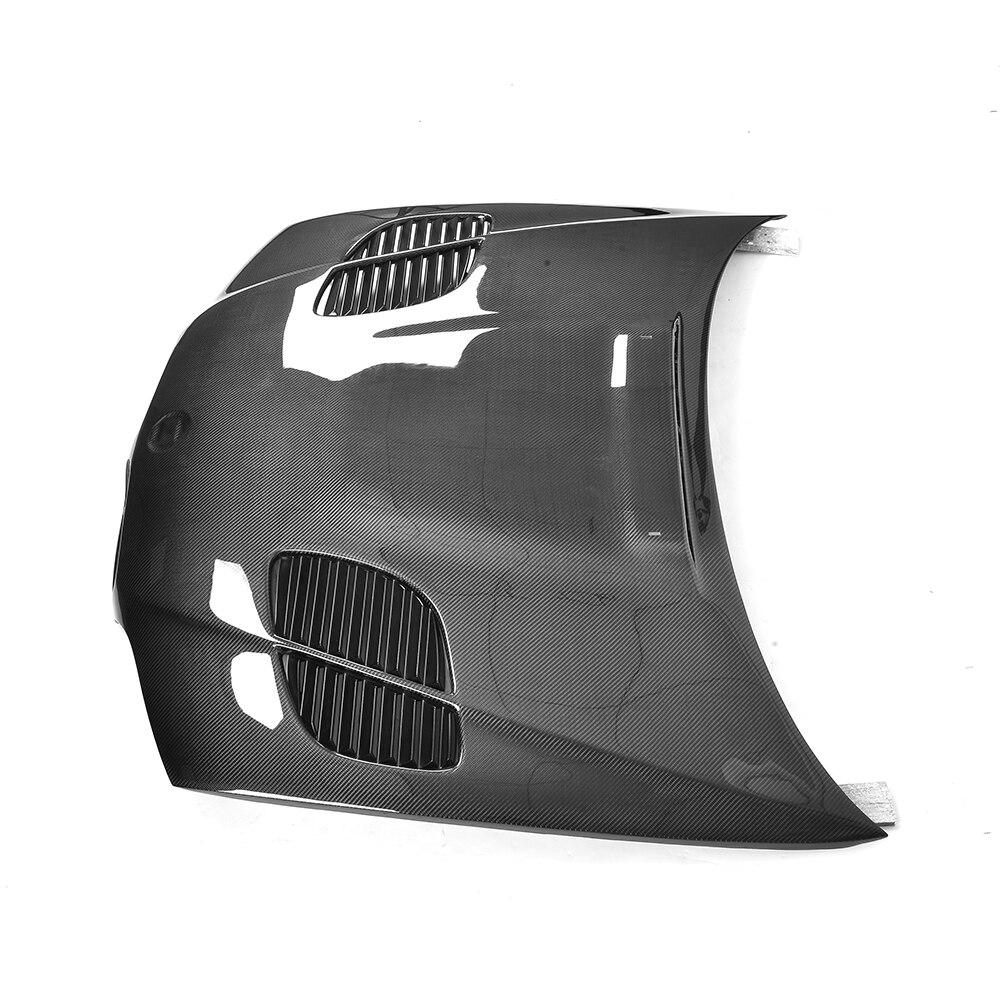 Carbon Fiber Car Front Engine Hood for BMW E46 2 Door 2002 - 2005 4 Door 1998 - 2002 Engine Cover