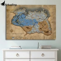 artsailing 1 piece game v skyrim poster modern wall art modular picture bedroom background home decor painting canvas print