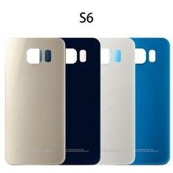 Para Samsung Galaxy G920 S6Edge G925 G928 S6 Borda Mais Bateria de Volta Porta Da Bateria Da Caixa Com Etiqueta De Vidro Tampa Traseira g920F