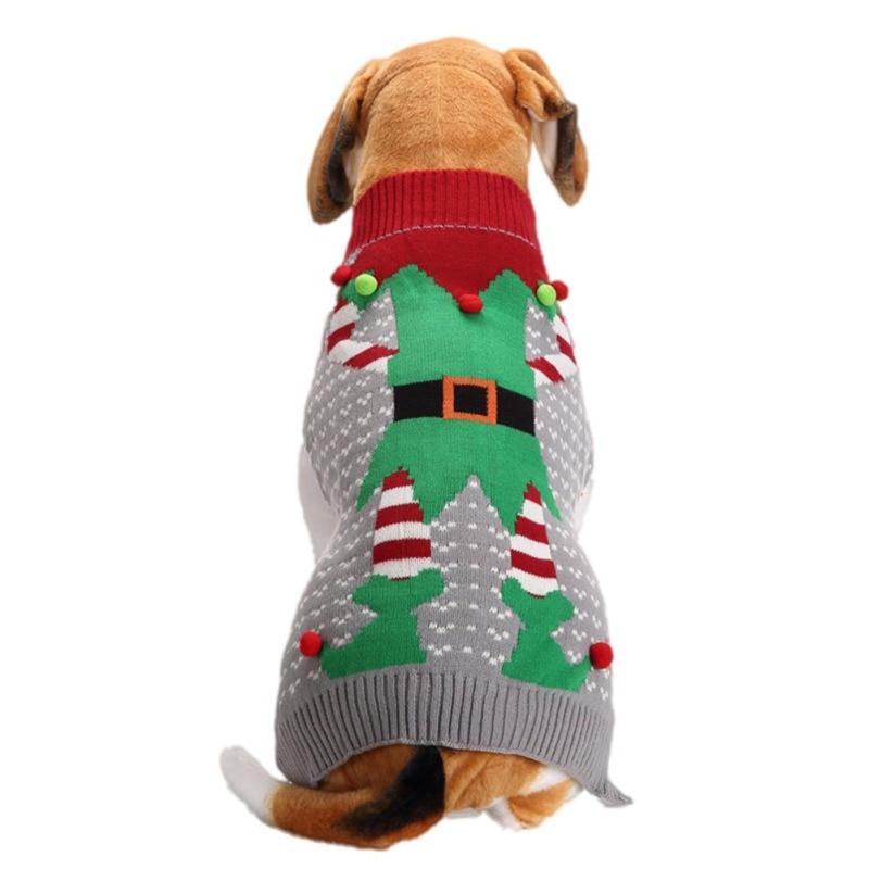Jersey navideño para perros, ropa de invierno para cachorros con Payaso, ropa cálida de Navidad con Reno para perros, jersey para mascota pequeña mediana, perro salchicha