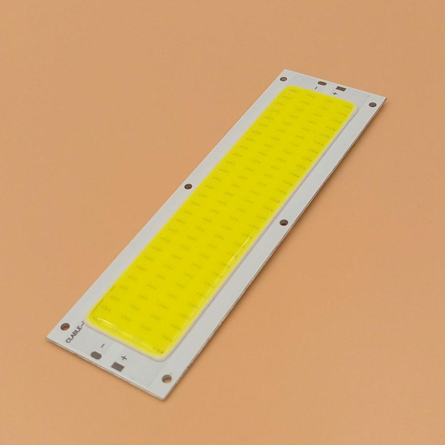Big Promotion !!! Ultra Bright 1300LM 12W COB LED Light Strip 12V DC for DIY 12V Lights Work Lamps Home Bulbs 120*36MM COB Chip