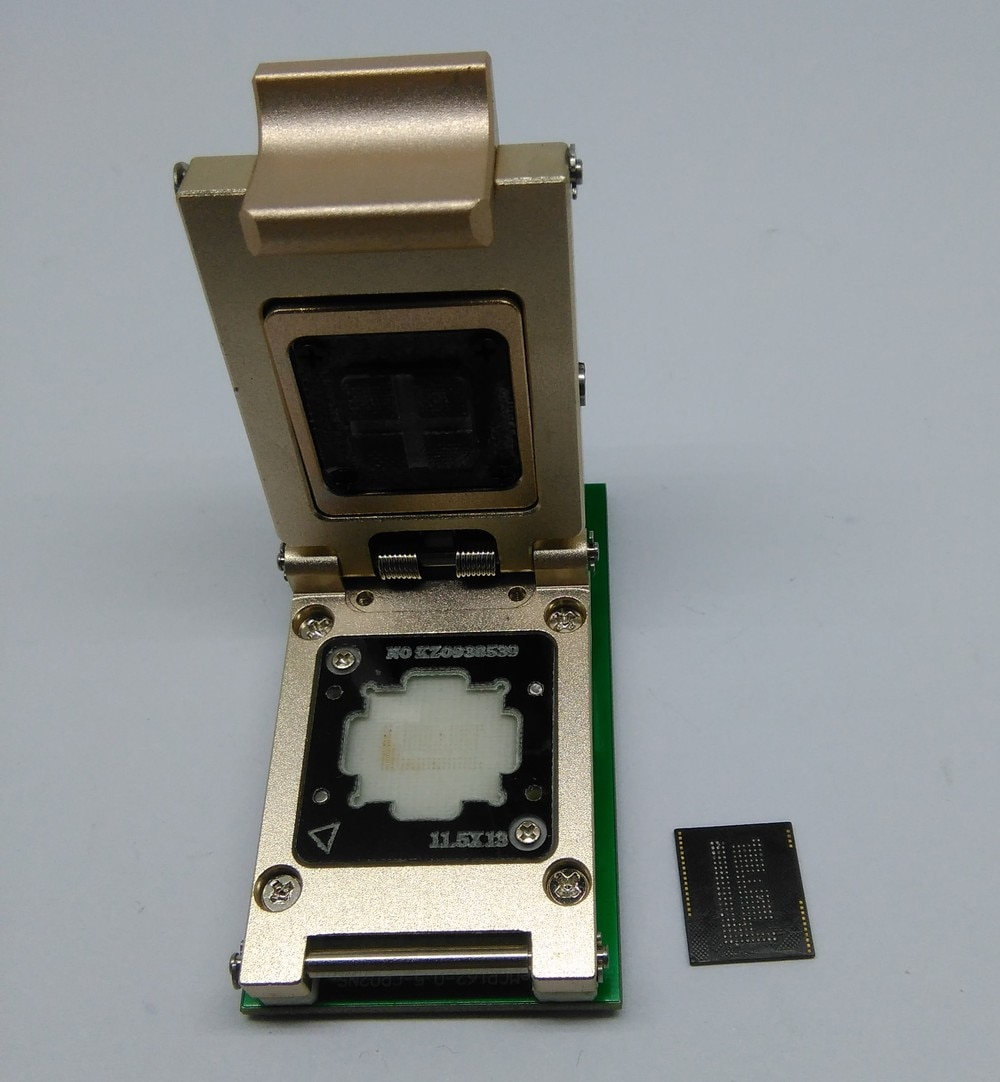 eMCP_11.5x13 SD adapter,for BGA62/BGA186 reader, data recovery tool from dead mobile phone,aluminium alloy,clamshell structure