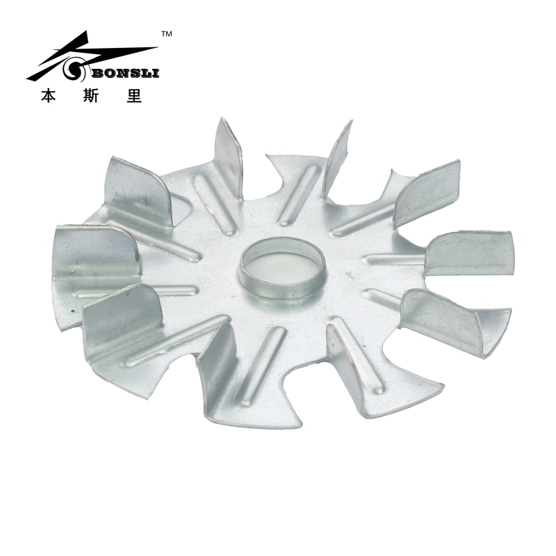 110mm diameter 15mm height 19mm hole flanging small vanes blade