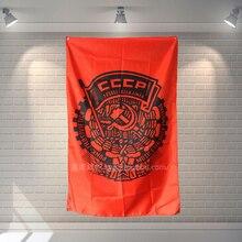 Banderole daffiches de lunion soviétique   Décor mural à thème hôtel Bar café, tissu Polyester imperméable à suspendre