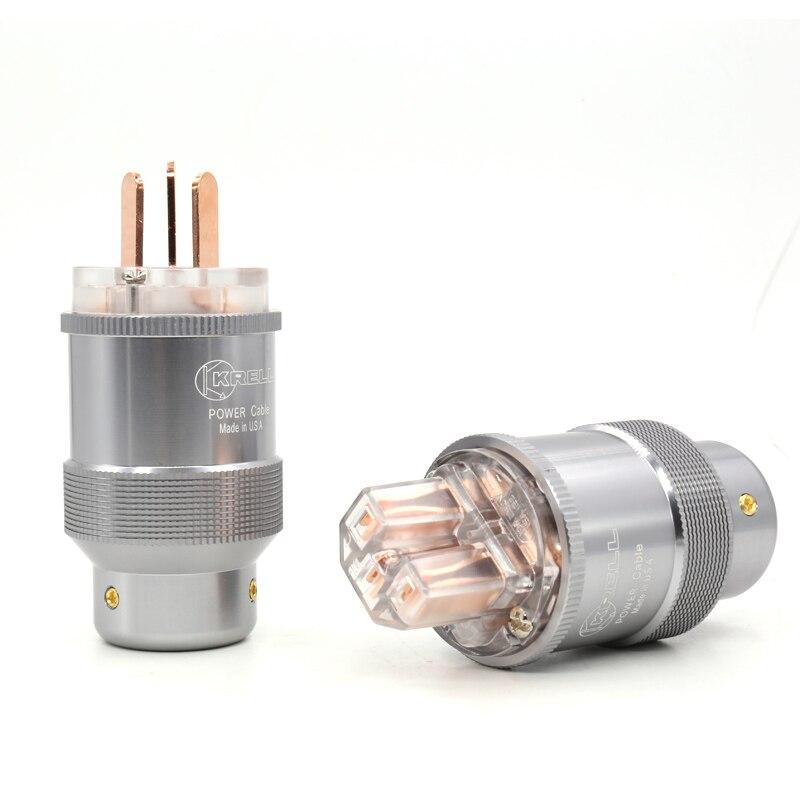 Cable de alimentación AU de cobre rojo de alta gama, enchufes de alimentación estándar de Australia + conector IEC para cables de alimentación Hifi diy