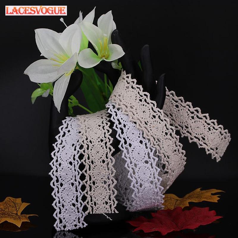 60yards 2.8cm Braid Cotton Lace trim Patchwork Needlework sewing accessories Clothes edge decoration Garment material  778