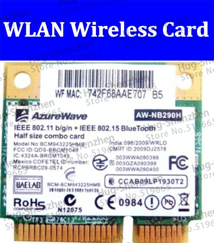 Alta calidad AW-NB290 AW-NB290H BCM943225HMB BCM2070 media mini PCIe 300M + Bluetooth...