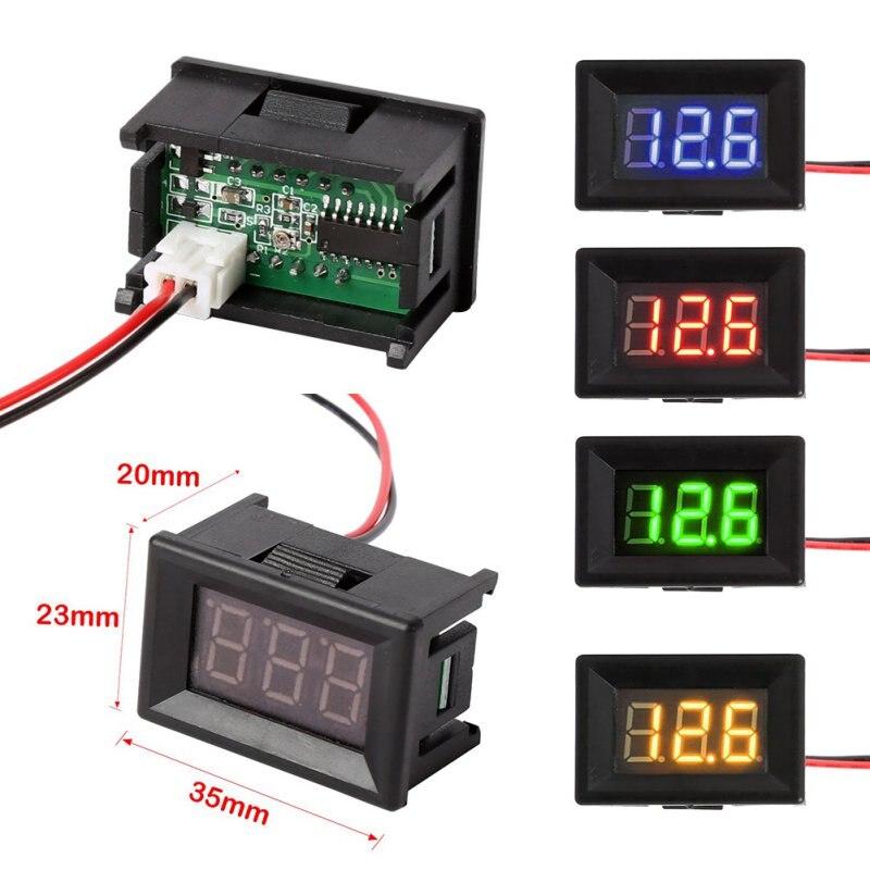 Mini voltímetro Digital DC voltímetro de voltaje medidor de Panel de 2 cables medidor de voltaje para el hogar Venta caliente