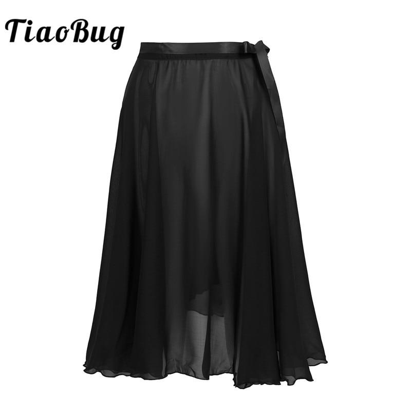 TiaoBug, falda de gasa pura para mujer, para danza, con lazo en la cintura, tutú profesional para Ballet, adultos, patinaje de gimnasia, Ropa de baile de práctica