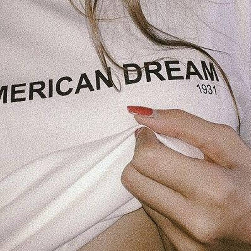 The American Dream 1931 T-Shirt Tumblr Fashion Clothes Tee Crewneck High Quality shirt Red Letter Graphic Tops black tshirt